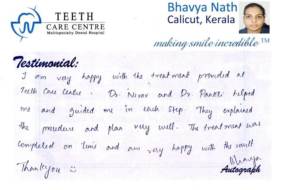 no 1 orthodontist ahmedabad nirav patel teeth care centre pankti patel aligner treatment invisalign braces specialist dental clinic dentist review testimonial treatment (1)