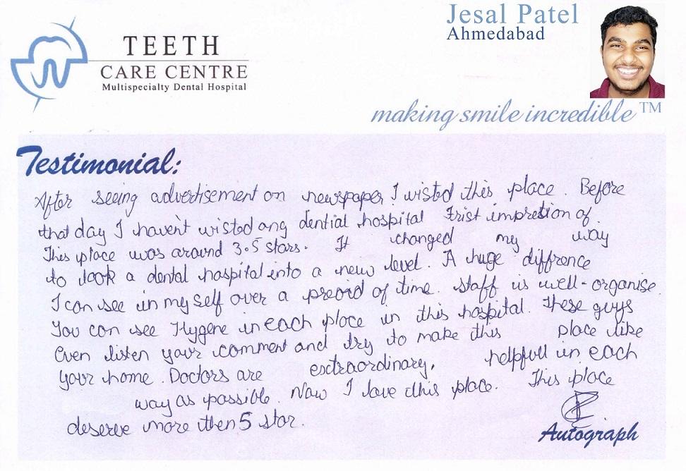 no 1 orthodontist ahmedabad nirav patel teeth care centre pankti patel aligner treatment invisalign braces specialist dental clinic dentist review testimonial treatment (3)