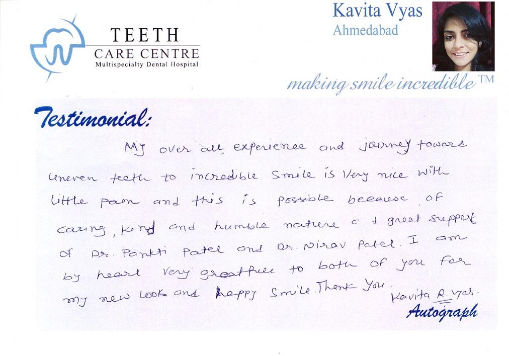 no 1 orthodontist ahmedabad nirav patel teeth care centre pankti patel aligner treatment invisalign braces specialist dental clinic dentist review testimonial treatment (9)