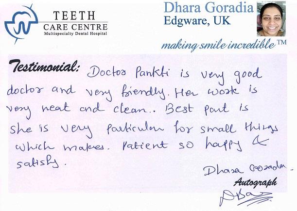 Dhara Goradia - UK